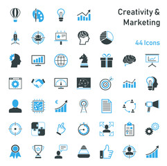 Creativity & Marketing - Iconset © kartoxjm