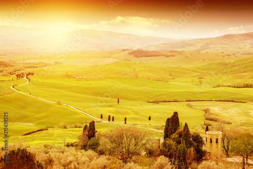 Aluminium Meloen Autumn background of Tuscany