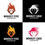 Monkey logo design template. Vector illustration