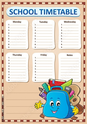 Canvas Voor kinderen Weekly school timetable template 4