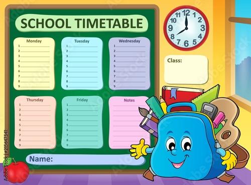 Canvas Voor kinderen Weekly school timetable template 5