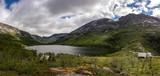 Panorama of Grytingsvatnet lake near Kinsarvik town in Norway - 215648569