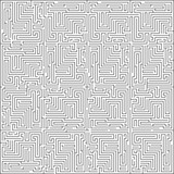 Abstract intricacy labyrinth maze monochromatic geometric background design template vector illustration - 215654515