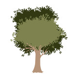 tree painted watercolor style vector illustration design - 215657938