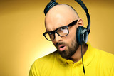Yellow man studio portrait