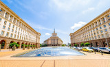 Cityscape of Sofia, Bulgaria on a sunny day. National Assembly building . - 215677184