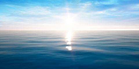 Sonnenuntergang am Meer mit leichten Wellen © psdesign1