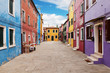 Leinwanddruck Bild - Burano, Venice, Italy