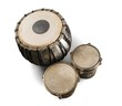 Leinwandbild Motiv Water Drum with Two Djembe Bongo - Isolated
