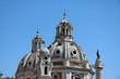 Quadro Domes of twin churches Santa Maria di Loreto and Santissimo Nome di Maria al Foro Traiano in Rome, Italy