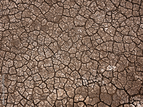 Foto Murales Cracked earth soil background