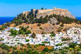Lindos Acropolis in Rhodes island - 215715936
