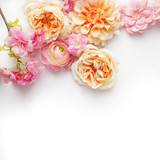 floral border on white background