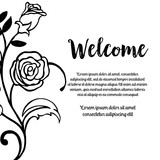 Beauty floral card welcome design vector illustration