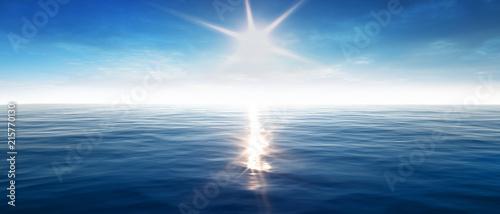 Canvas Zee zonsondergang Sonnenuntergang am Meer mit leichten Wellen