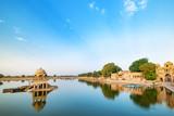 Gadisar lake in the morning at Jaisalmer, Rajasthan, India. An UNESCO World herritage.