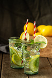Fresh homemade lemonade - 215787793