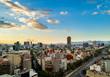 Quadro Mexico City - Chapultepec panoramic view - sunset