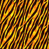Golden glitter tiger seamless pattern. Animal print. Vector background for fabric,textile, wrapping.
