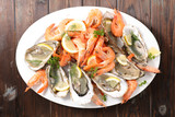 oyster and shrimp - 215796101