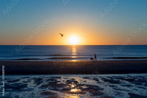 Aluminium Noordzee Sonnenuntergang an der Nordsee
