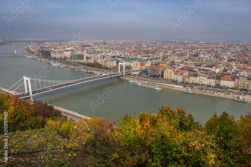 In de dag Boedapest Skyview of Budapest
