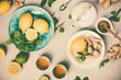 Leinwandbild Motiv Ginger tea with lemon, honey and mint