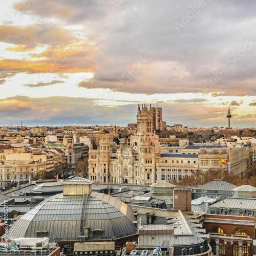 Aerial View Madrid Cityscape - 215831778
