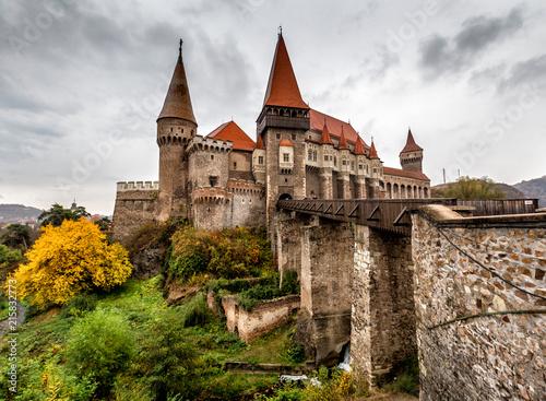 Leinwandbild Motiv corvin castle in Hunedoara ,Romania