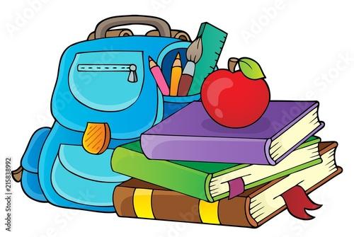 Canvas Voor kinderen School equipment theme image 1