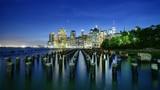 New York Waterfront Night
