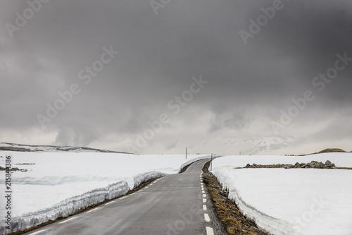 Aurlandsvegen mountain road between Aurland and Laerdal in Norway