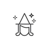 Witch head outline icon. linear style sign for mobile concept and web design. fairy head simple line vector icon. Symbol, logo illustration. Pixel perfect vector graphics