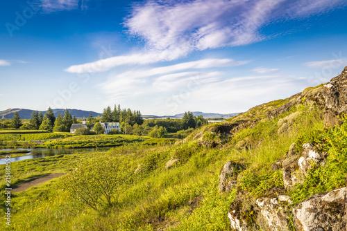 Foto Spatwand Honing Iceland