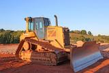 Bulldozer on a construction site - 215869713