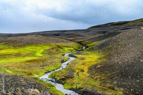 Foto Spatwand Blauwe hemel landscapes of Iceland