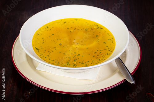 Chicken soup with noodle - 215876148