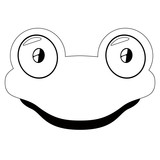 Isolated cute lizard avatar