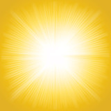Beams of light, shiny sun rays summer background. - 215896134