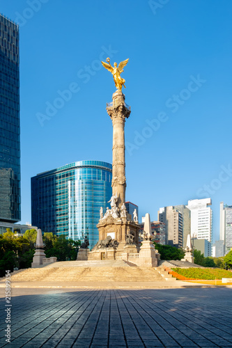 The Angel of Independence at Paseo de la Reforma in Mexico City