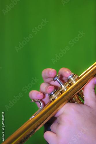 Trumpet playing - 215902922