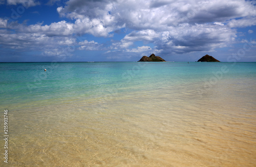 Plexiglas Tropical strand Shallow water - Lanikai Beach, Oahu, Hawaii