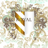 Royal vector design with shield and flourishes - 215911921