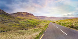Landscape with a road from Healy Pass to Adrigole, County Cork, Ireland.