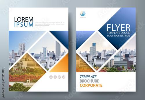 annual report brochure flyer design template vector leaflet