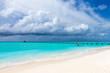 Quadro Maldives beach resort panoramic landscape. Summer vacation travel holiday background concept. Maldives paradise beach.