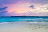 Sunset on sea in Maldives - 215927916