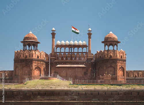 Foto Murales red fort delhi india monument
