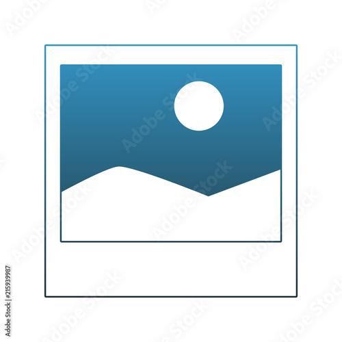 Canvas Wit Landscape picture symbol vector illustration graphic design