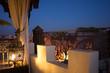 Quadro oriental night roof view in marrakesh